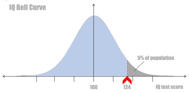 high IQ score