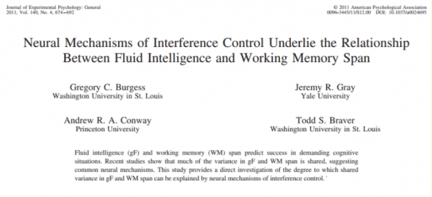 Interference control training